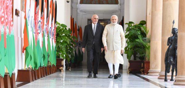 Le président afghan Ashraf Ghani reçu à New Delhi par le Premier ministre indien Narendra Modi, le 19 septembre 2018. (Source : League of India)