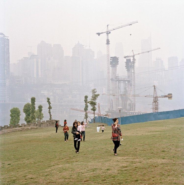 """Extrait de la série """"Metamorpolis"""" de Tim Franco, sur l'agglomération chinoise de Chongqing. (Copyright : Tim Franco/Forum Vies Mobiles)"""