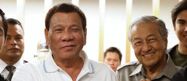 Le président philippin Rodrigo Duterte et le Premier ministre malaisien Mahathir Mohamad. (Source : Boell)