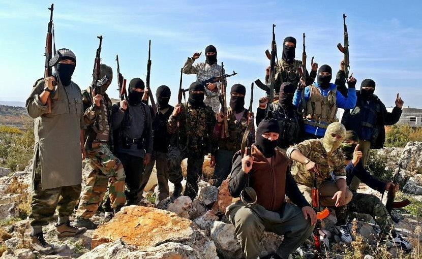 Des combattants ouïghours du Parti islamique du Turkestan (PIT) en Syrie. (Source : Eurasianews)