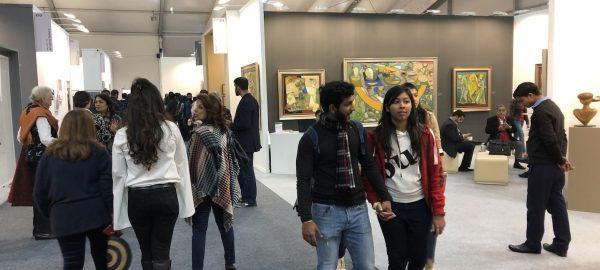Du 30 janvier au 2 février 2019, la 11ème India Art Fair a accueilli à New Delhi 75 galeries et plus de 1000 oeuvres. Crédit : Michel Testard)