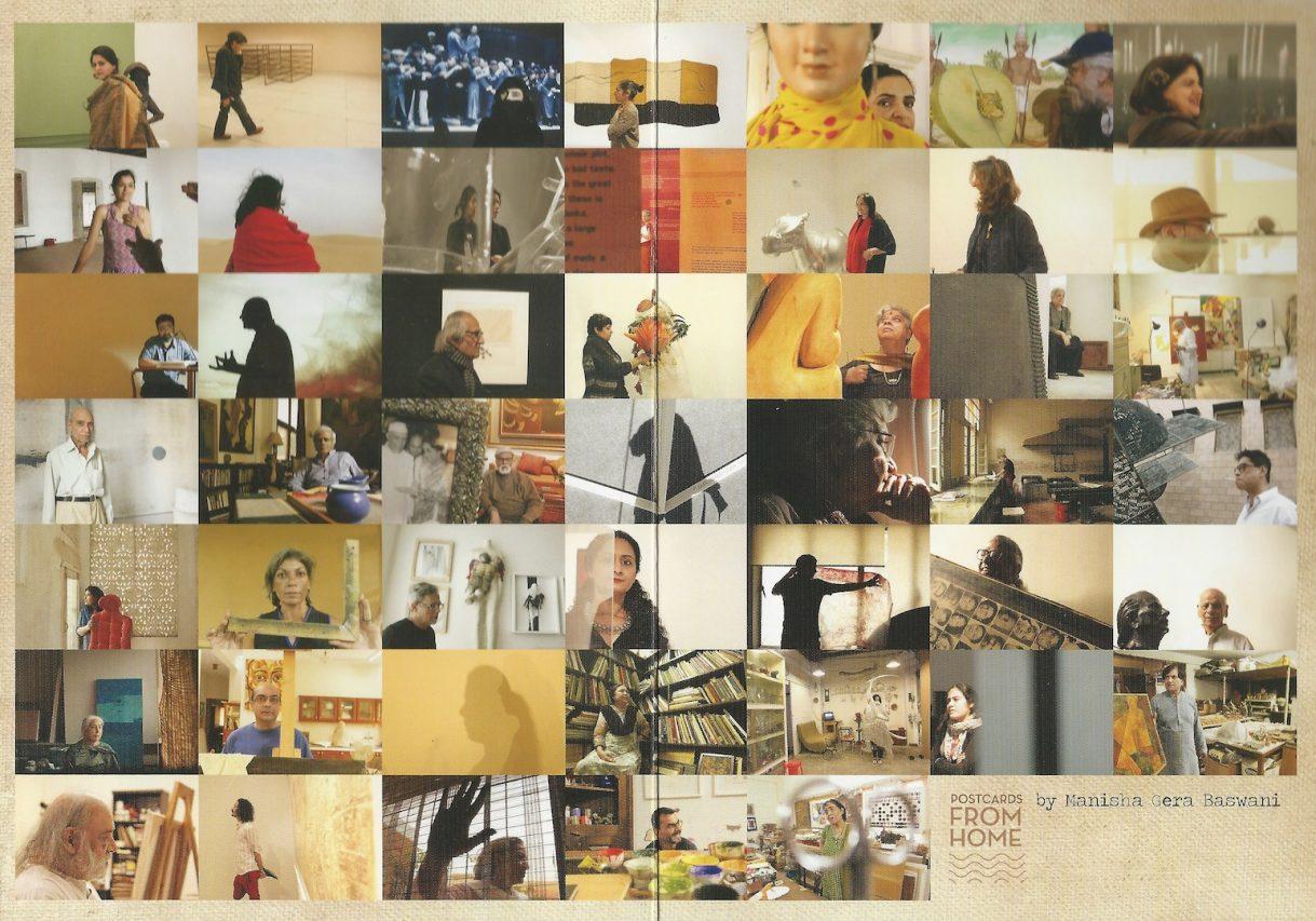 """""""47 Postcards from home"""", installation de Manisha Gera Baswani, exposée à l'India Art Fair de New Delhi du 30 janvier au 2 février 2019. (Crédit : Michel Testard)"""