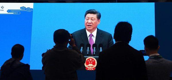 """Le président chinois Xi Jinping lors de son discours de clôture du 2ème Forum des """"Nouvelles Routes de la Soie"""" à Pékin, le 27 avril 2019. (Source : Asia Times)"""
