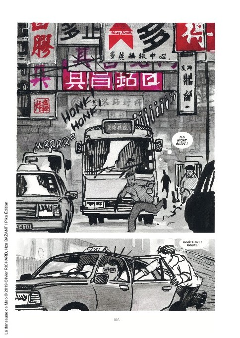 "Extrait de la bande dessinée ""La danseuse de Mao"", scénario Olivier Richerd, dessin Hza Bazant, Pika Graphic. (Copyright : Pika Graphic)"