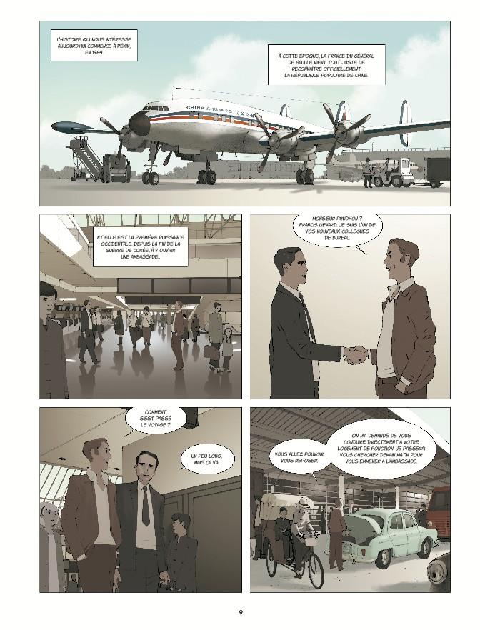 """Extrait de la bande dessinée """"La chinoise"""", scénario Régis Hautière, dessin Grégory Charlet, Glénat. (Copyright : Glénat)"""
