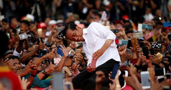 Le président indonésien Joko Widodo en campagne pour sa réélection le 24 mars 2019, à Serang, dans la province de Banten. (Source : Jakarta Post)