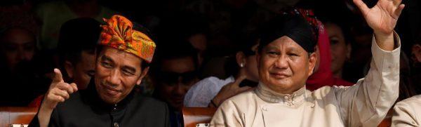 """Le président indonésien Joko Widodo, dit """"Jokowi"""", et son concurrent à l'éeciton présidentielle du 17 avril 2019, Prabowo Subianto. (Source : RFI)"""