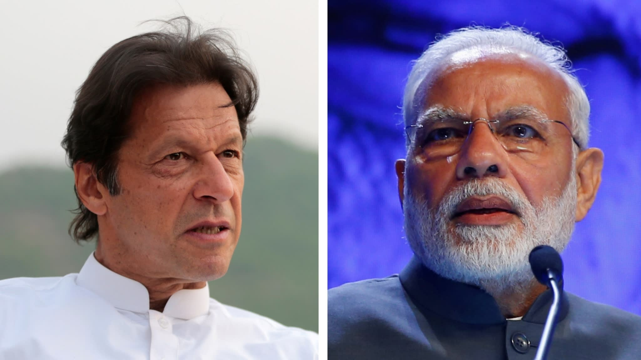 Le Premier ministre pakistanais Imran Khan et son homologue indien Narendra Modi. (Source : FT)