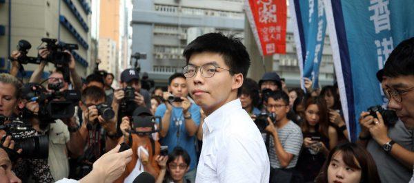 Le leader étudiant hongkongais, Joshua Wong, libéré de prison le 17 juin 2019 à Hong Kong. (Source : SCMP)