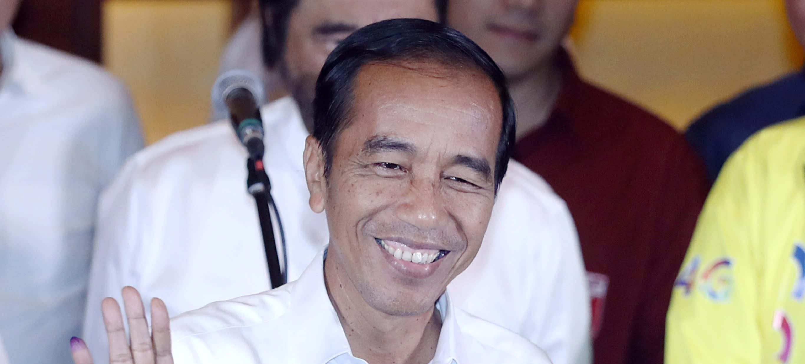 """Le président sortant indonésien Joko """"Jokowi"""" Widodo a été réélu le 21 mai avec plus de 55 % des voix contre Prabowo Subiante. (Source : Asia Nikkei Review)"""