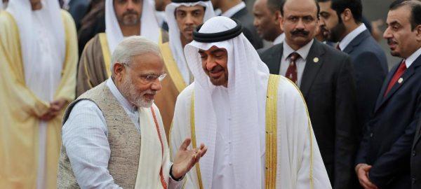 Le Premier ministre indien Narendra Modi et le Prince héritier d'Abu Dhabi, Sheikh Mohammed bin Zayed Al Nahyan, à New Delhi, le 24 janvier 2017. (Source : USNews)
