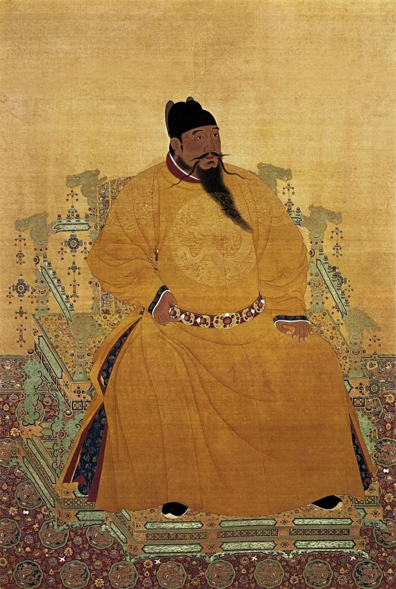 Portrait de l'empereur Yongle/Chenzu. (Source : Wikimedia Commons)