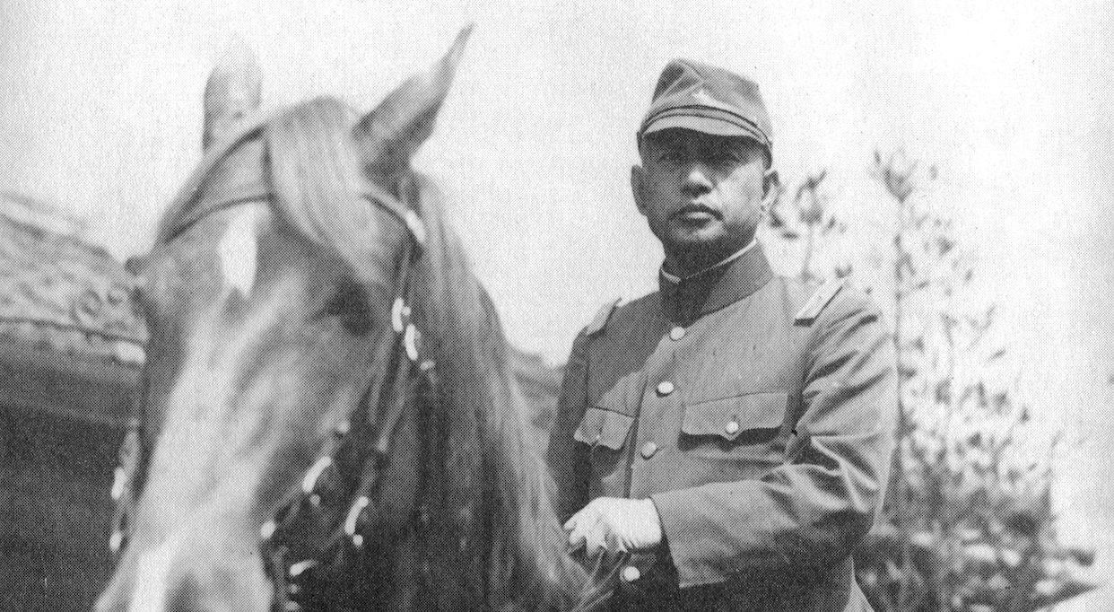 """Kanji Ishiwara, le général de l'armée impériale japonaise derrière """"l'incident de Mukden"""", le 18 septembre 1931, qui déclencha l'invasion de la Mandchourie et, par un effet domino, la Seconde Guerre mondiale. (Copyright : Bruno Birolli)"""