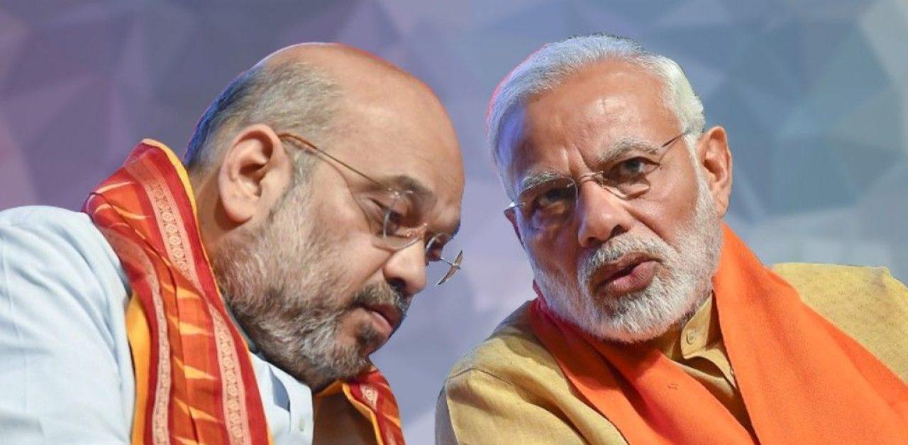 Le Premier ministre indien Narendra Modi et son ministre de l'Intérieur Amit Shah. (Source : Swarajya Mag)