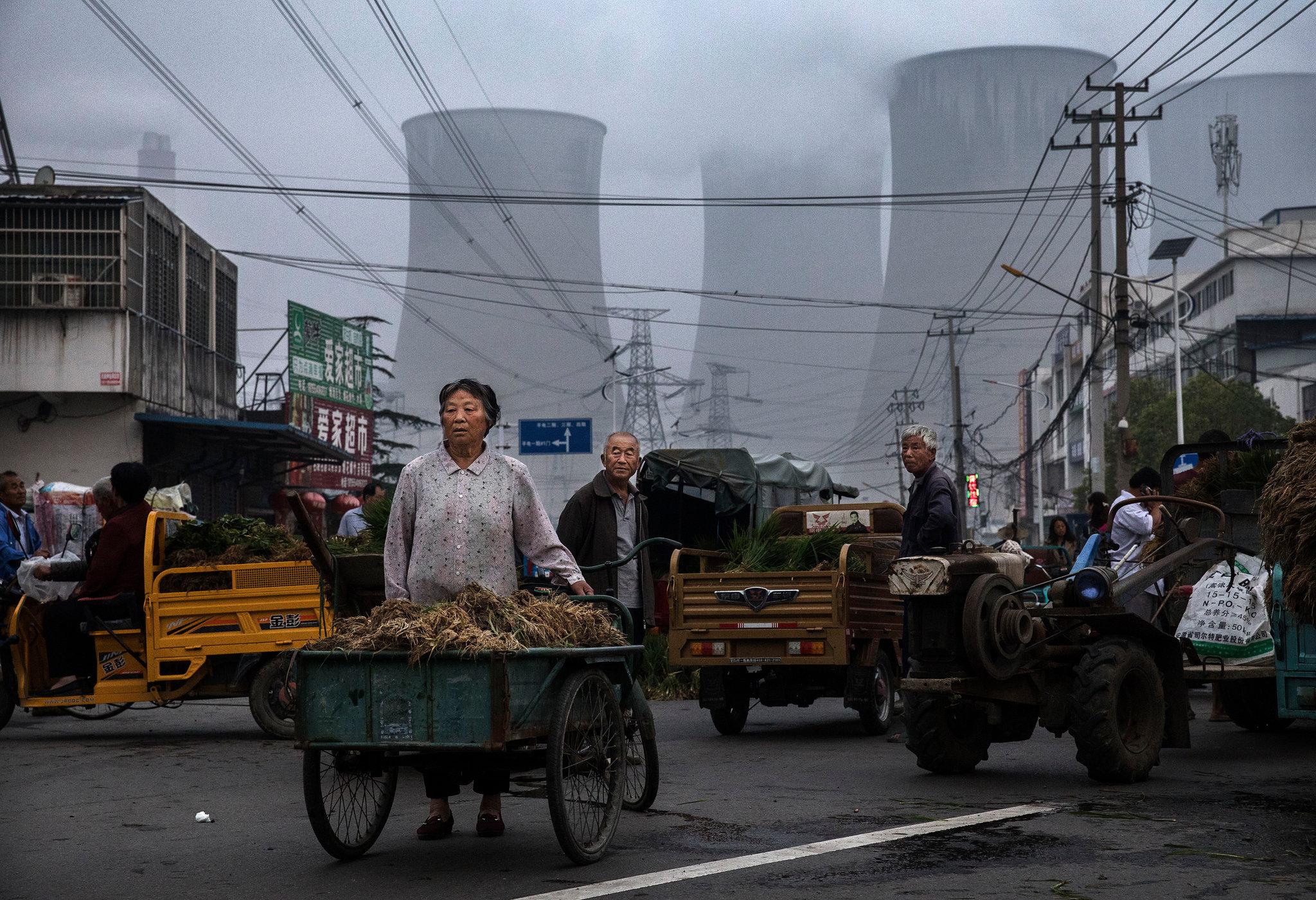 Centrale au charbon à Huainan en Chine. (Source : NYT)