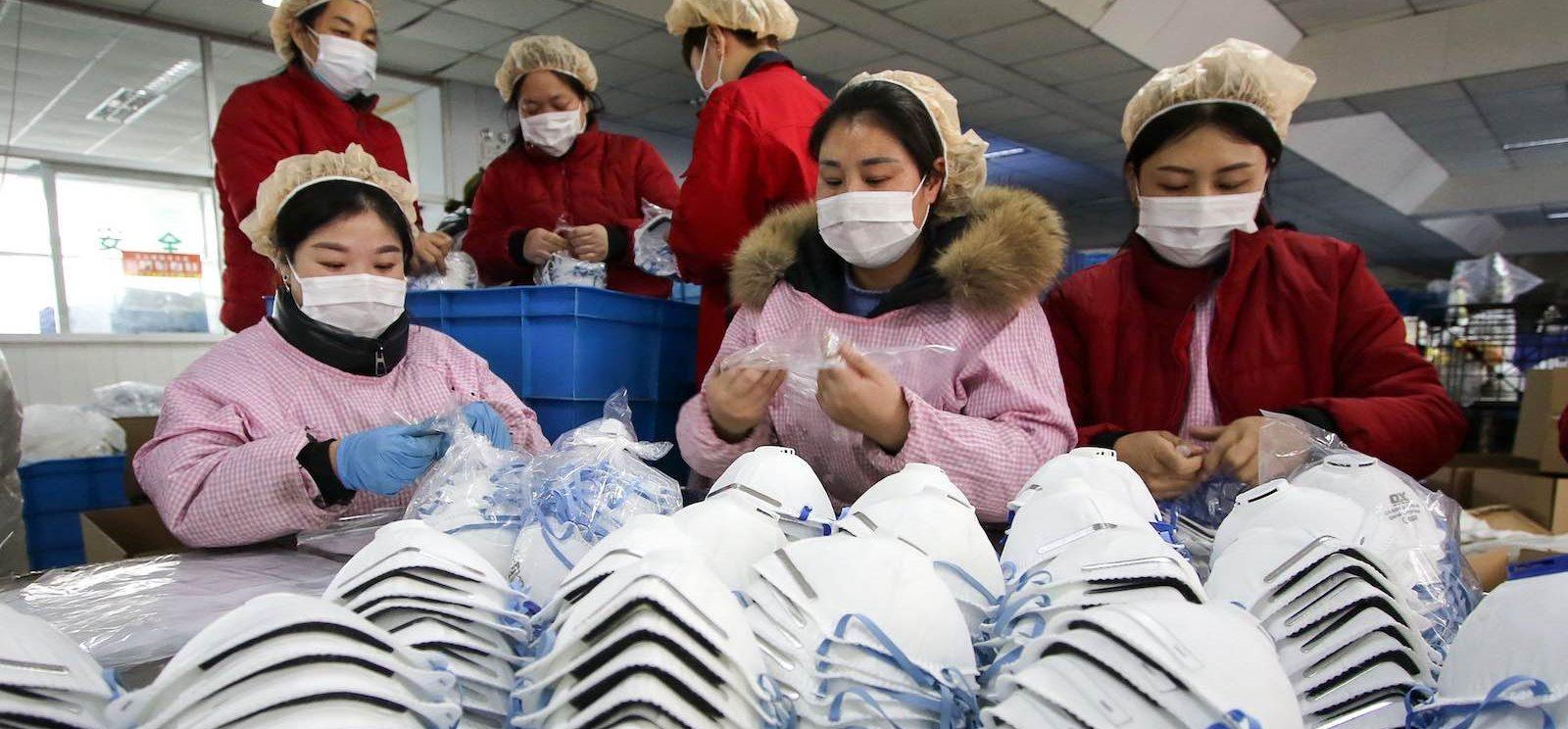 Usine de production de masques à Handan, dans la province du Hebei au nord de la Chine, le 22 janvier 2020. (Source : Lowy Institute)