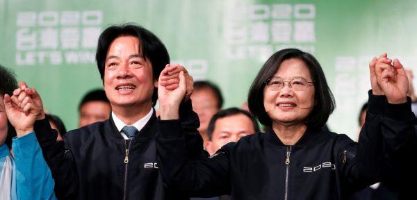 La présidente taïwanaise sortante Tsai Ing-wen réélue le 11 janvier avec futur son vice-président William Lai. (Source : Thinkchina)