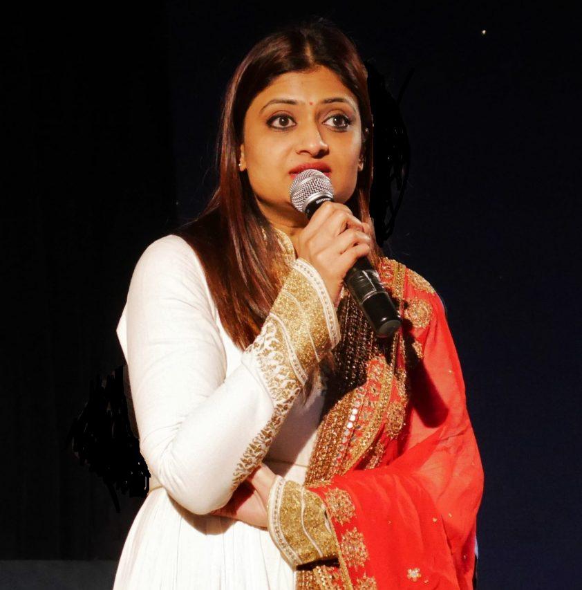 """La réalisatrice indienne Geetu Mohandas au Grand Rex, à l'occasion de la projection de son film """"Moothon"""", au Grand Rex à Paris le 28 janvier 2020. (Crédit : FFAST)"""