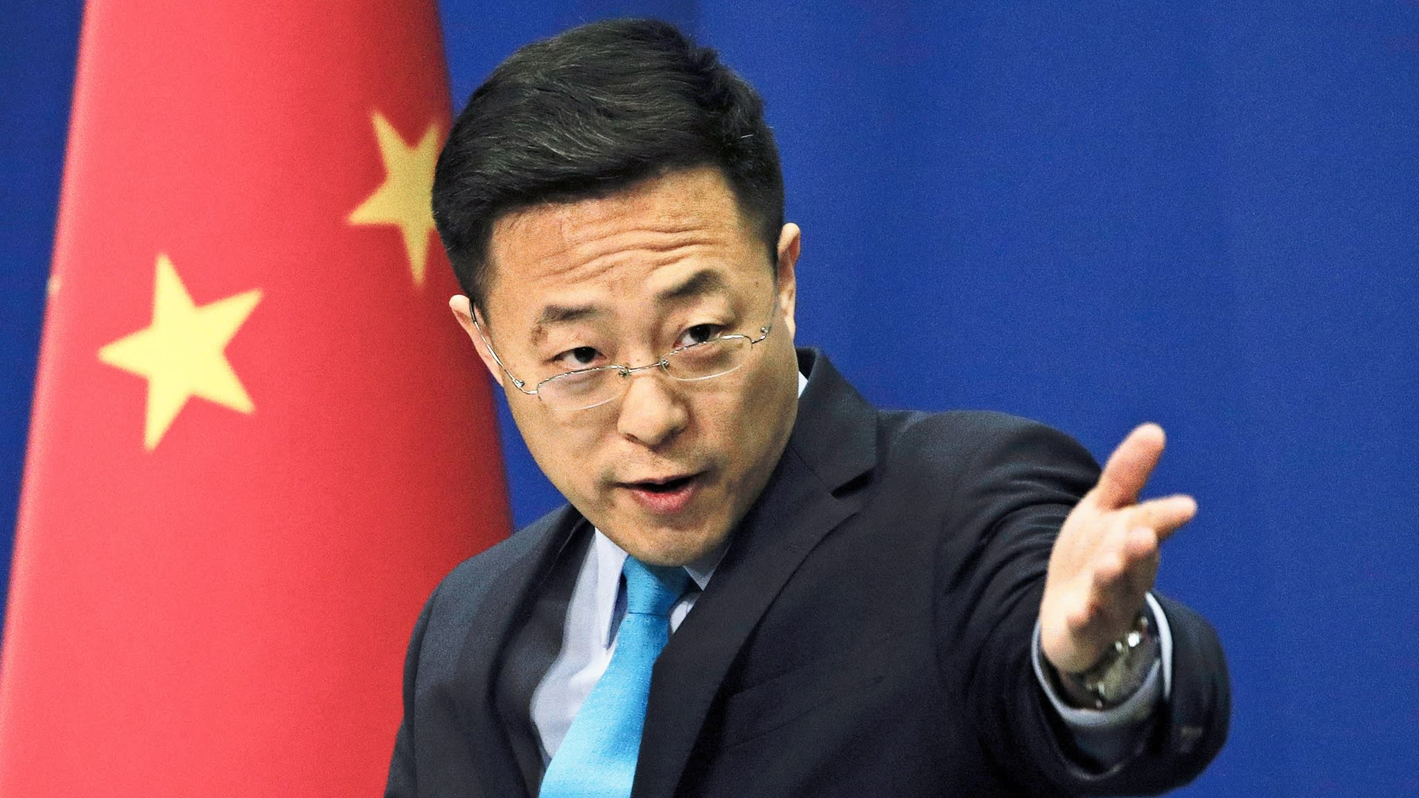 Pour Zhao Lijian, directeur adjoint de la presse au ministère chinois des Affaires étrangères, c'est l'armée américaine qui a introduit le coronavirus en Chine. (Source : Asian Nikkei Review)