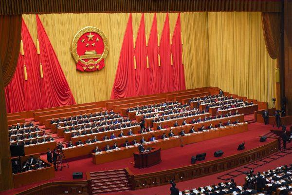 Le Premier ministre chinois Li Keqiang lors de son discours devant l'Assemblée nationale populaire à Pékin le 5 mars 2019. (Source : CNBC)