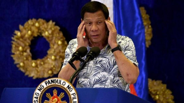Le président philippin Rodrigo Duterte. (Source : La Voix du Nord)