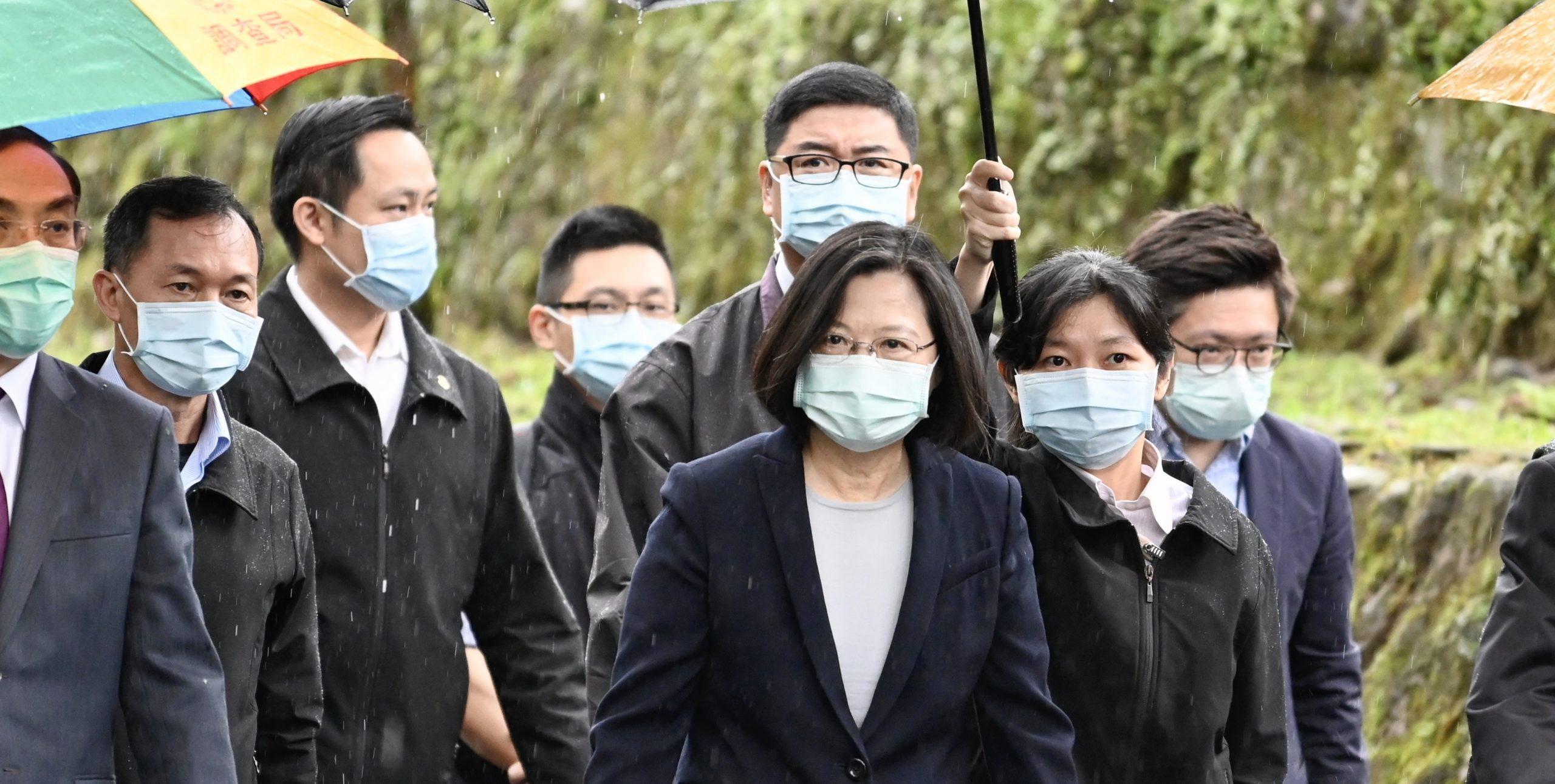 La président taïwanaise Tsai Ing-wen le 24 avril 2020 à Taipei. (Source : Iowa Public Radio)