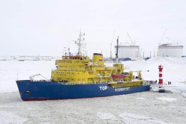 Sabetta est le nouveau port russe capable d'accueillir de grands méthaniers brise-glaces. (Source : Wikimedia Commons)