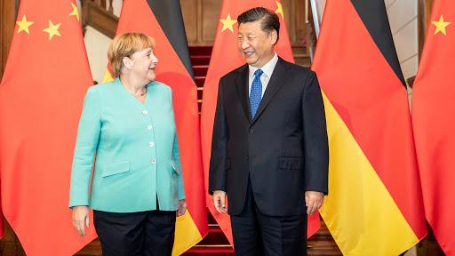 La chancelière allemande Angela Merkel et le président chinois Xi Jinping à Pékin, le 6 septembre 2019. (Source : FT)