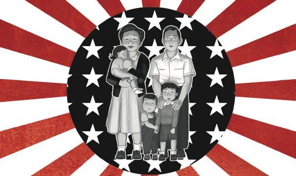 """Couverture de la bande dessinée """"Nous étions les ennemis"""", scénario George Takei, dessin Harmony Becker, Futuropolis,. (Copyright : Futuropolis)"""