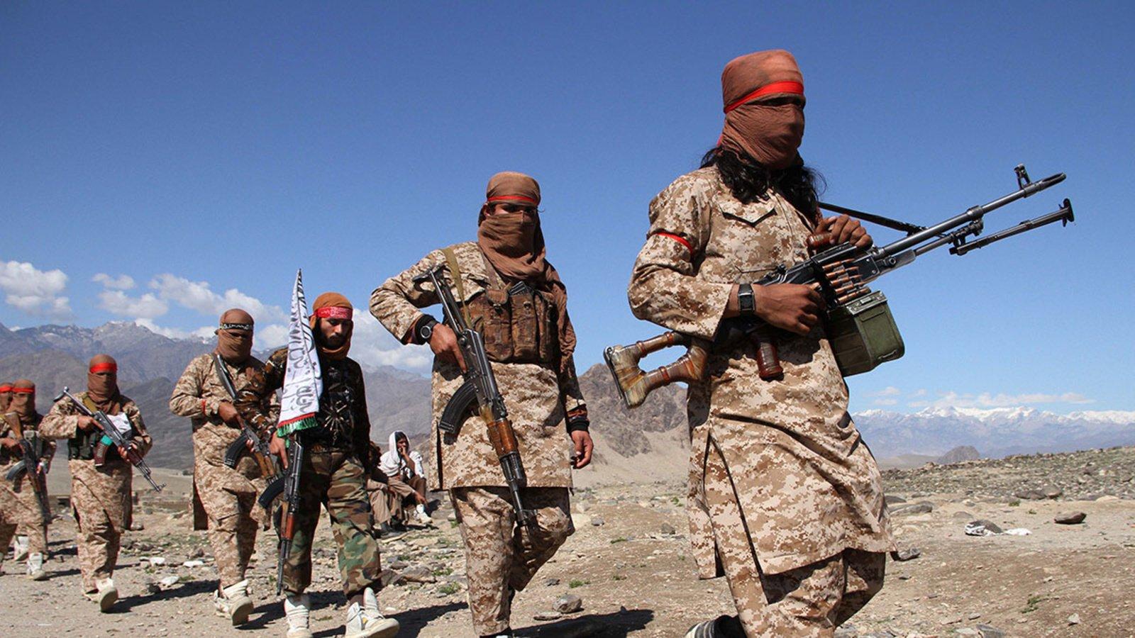 Combattants talibans participant à un rassemblement pour célébrer l'accord avec les Américains en Afghanistan en mars 2020. Combattants talibans participant à un rassemblement pour célébrer l'accord avec les Américains en Afghanistan en mars 2020. (Source : CFR)