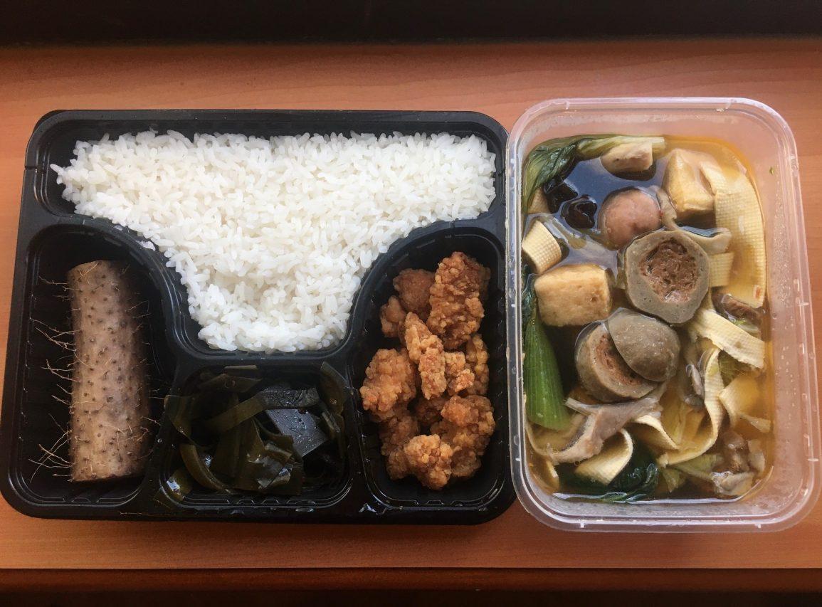 Plateau repas à l'hôtel de Xi'an. (Copyright : Stéphane Lagarde)