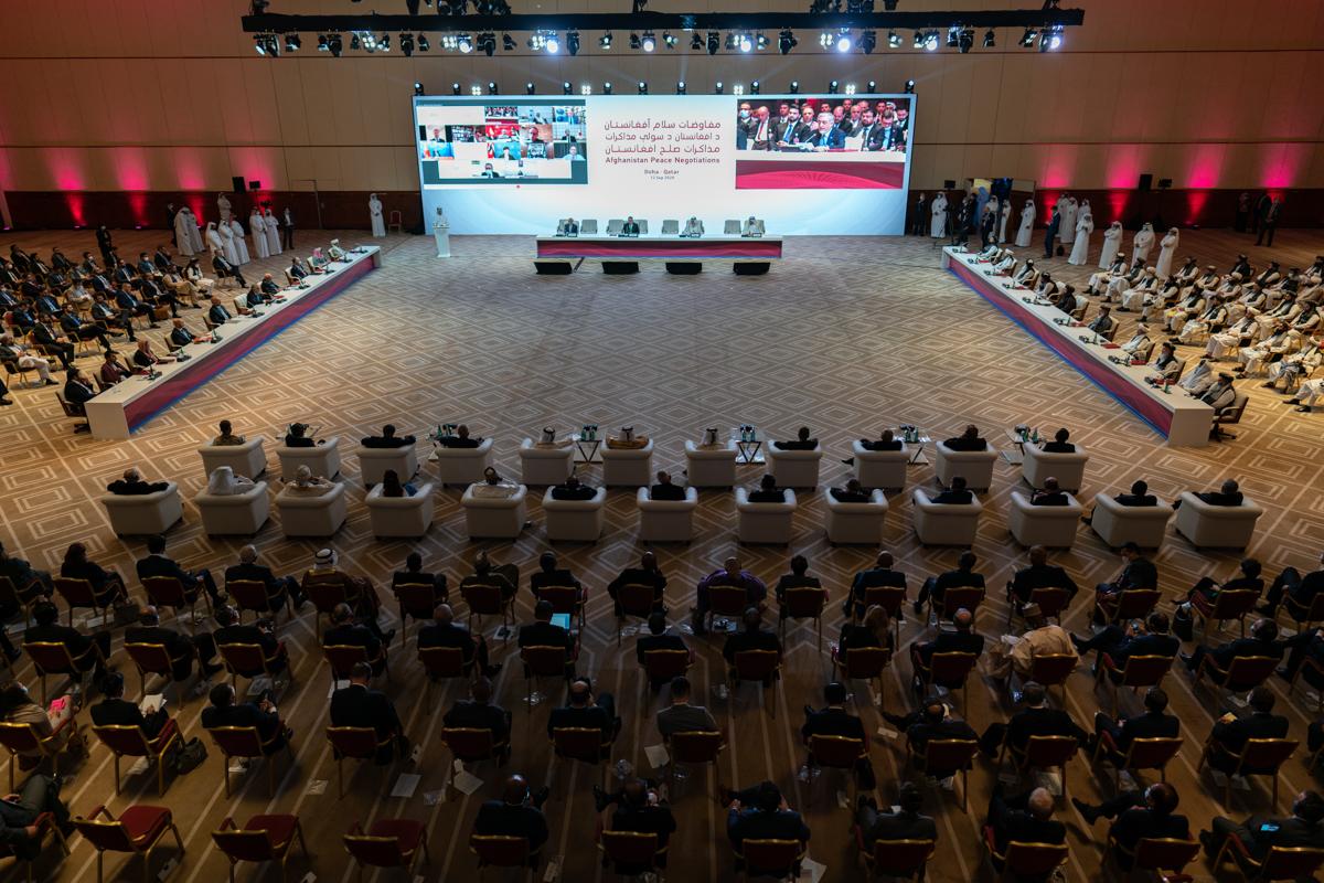 Le 12 septembre 2020, des pourparlers de paix historiques se sont ouverts à Doha entre le gouvernement afghan et les Talibans, sous l'égide de l'administration américaine. (Source : Al-Jazeera)