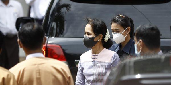La Première ministre birmane de facto Aung San Suu Kyi, le 4 août à Rangoun. (Source : Daily Sabah)