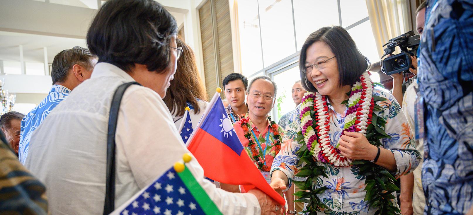 La présidente taïwanaise Tsai Ing-wen lors d'une escale à Hawaï, le 27 mars 2019. (Source : The Diplomat)