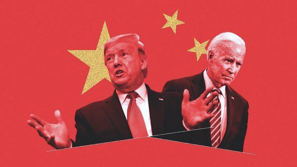 """Quel est le """"candidat de la Chine"""" à la présidentielle américaine ? Le président sortant Donald Trump ou le démocrate Joe Biden ? (Source : Axios)"""