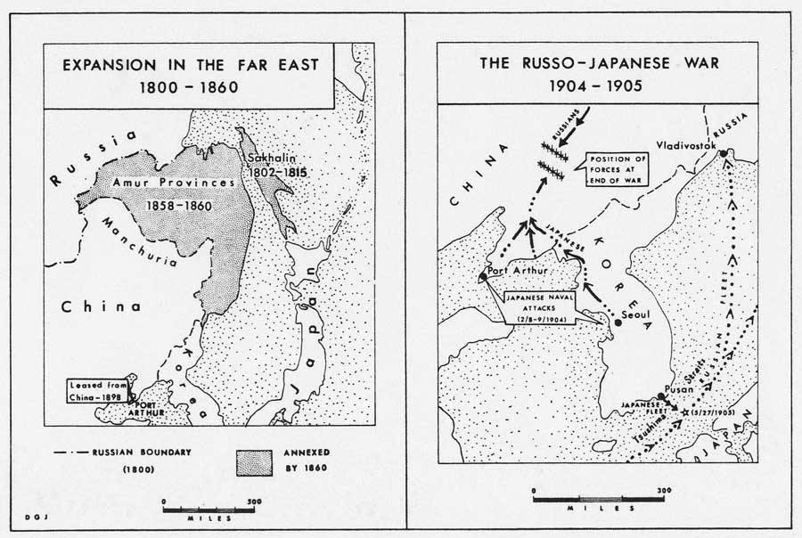 Carte de la guerre russo-japonaise. (Source : DR)
