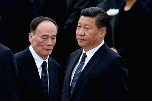 Wang Qishan et Xi Jinping, le 30 septembre 2014 à Pékin. (Source : Asia News)