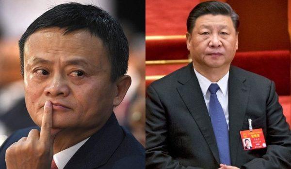 Le PDG d'Alibaba, Jack Ma, et le président chinois Xi Jinping. (Source : The Week)