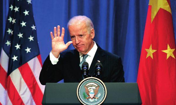 Joe Biden, alors vice-président américain, durant un déjeuner avec des dirigeants d'entreprises à Pékin, le 5 décembre 2013. (Source : Global Times)