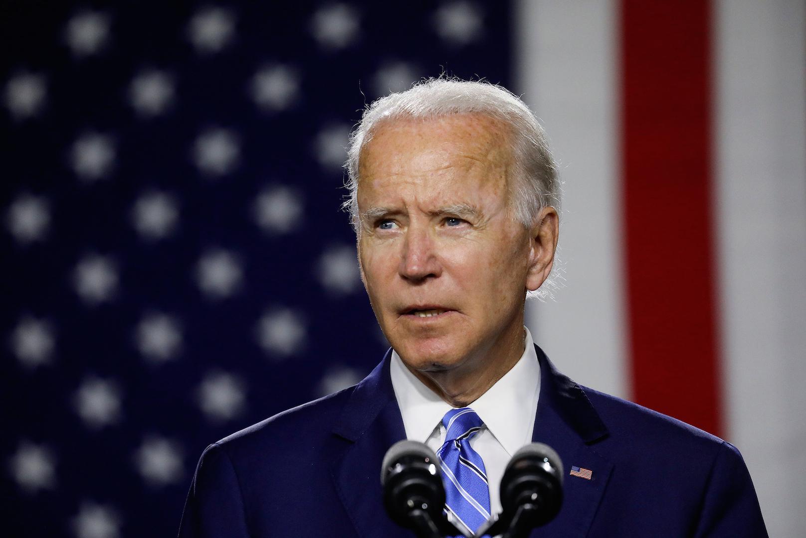 Le candidat démocrate à la présidentielle américaine, Joe Biden, lors d'une conférence de presse à Wilmington, Delaware, le 14 juillet 2020. (Source : NBC)