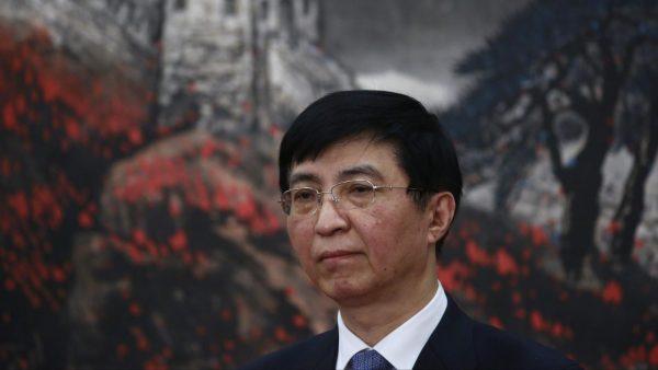 Wang Huning, lors de la présentation du comité permanent du Politburo du Parti communiste chinois, dont il est membre, le 25 octobre 2017 à Pékin. (Source : QZ)