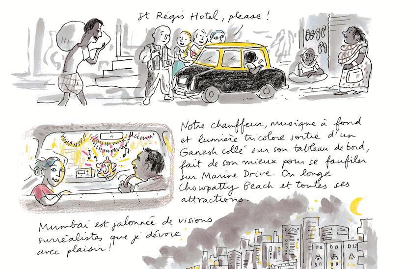 """Extrait de la bande dessinée """"Rita, sauvée des eaux"""", scénario Sophie Legoubin Caupeil, dessin Alice Charbin, Delcourt. (Copyright : Éditions Delcourt, 2020 – Legoubin-Caupeil, Charbin)"""