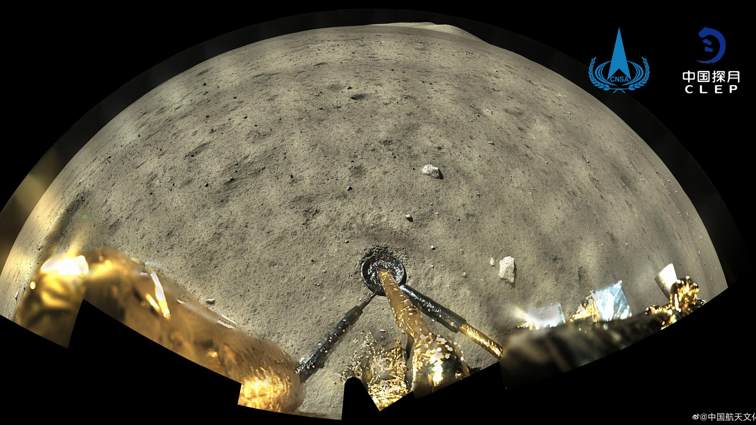 La sonde chinoise Chang'e-5 a réussi à se poser sur la lune le 1er décembre 2020 avant d'en ramener des échantillons sur Terre le 17 décembre. (Source : NYT)