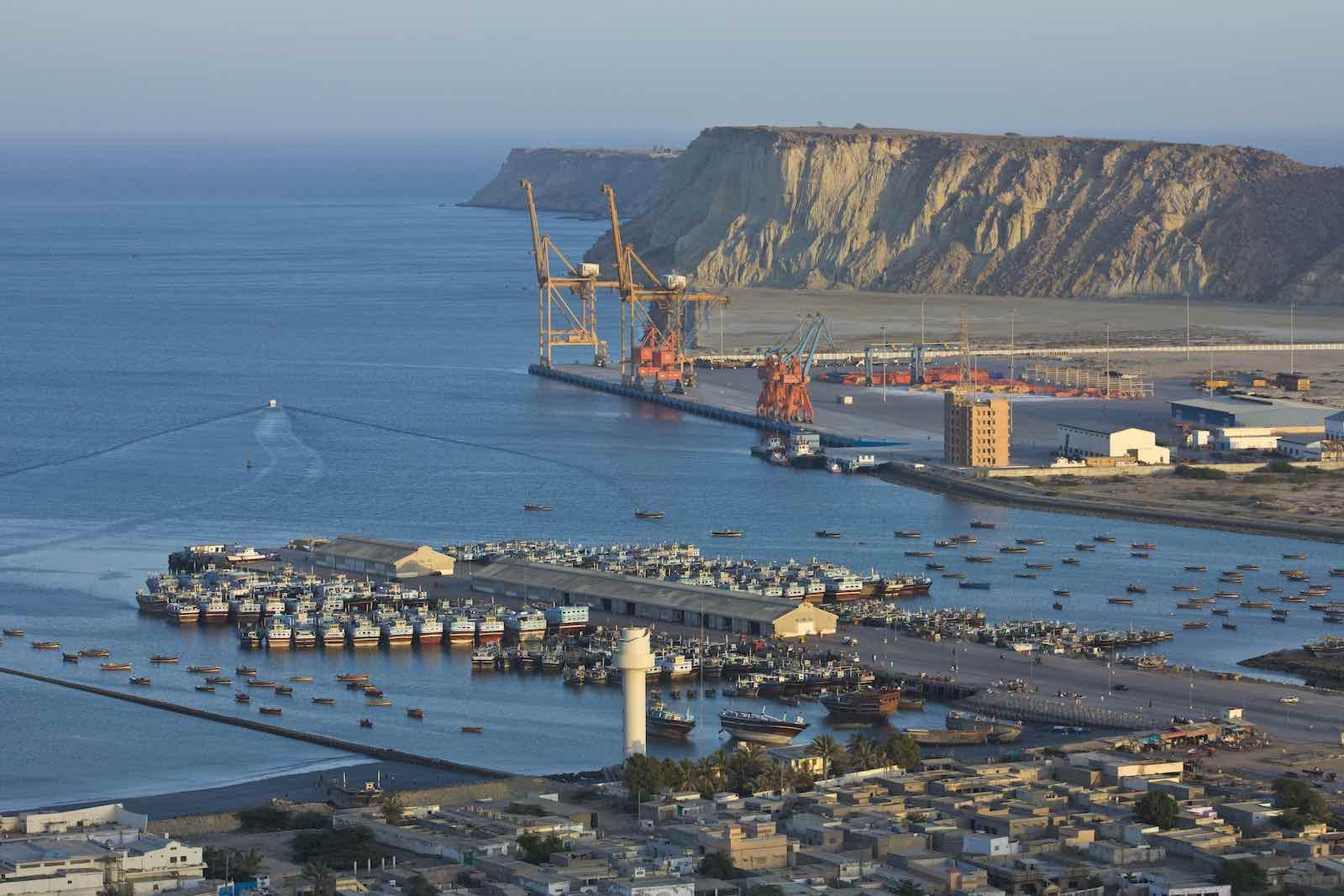 Le port de Gwadar au Pakistan pourrait être utilisé comme base navale de la marine chinoise. (Source : Lowy Institute)