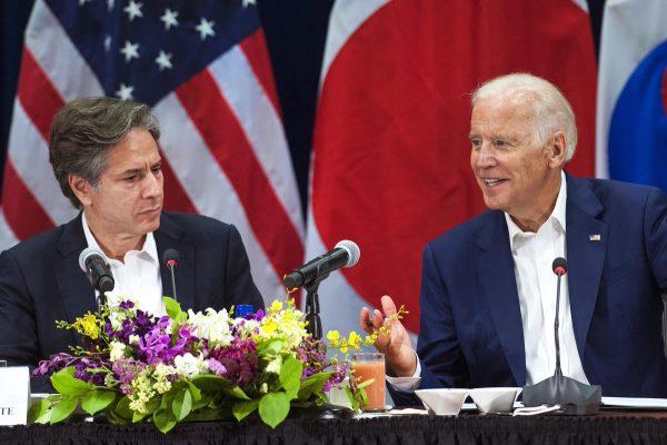 Le président américain et son secrétaire d'État Anthony Blinken. (Source : Twitter @Yafbiden)