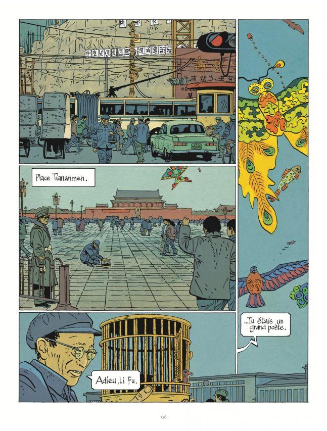 """En Chine dans """"Celui qui mène les fleuves à la mer"""" par Cosey, éditions Le Lombard. (Crédit : Le Lombard)"""