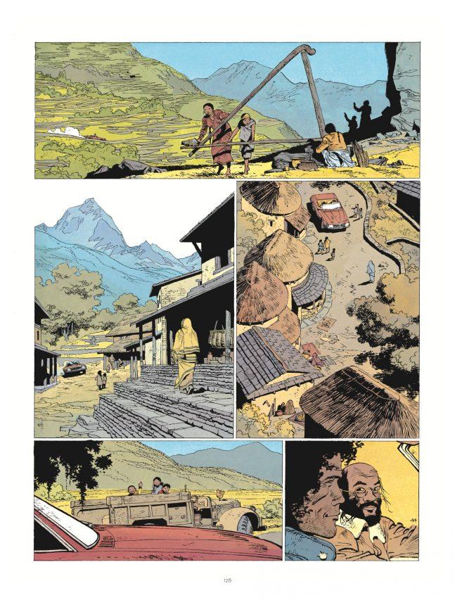 """Jonathan au Népal dans """"Le privilège du serpent"""", par Cosey, éditions Le Lombard. (Crédit : Le Lombard)"""