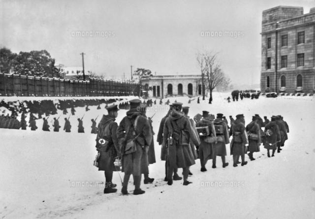 Tokyo en état de siège lors du coup d'État manqué du 26 février 1936. (Source : Ameblo)