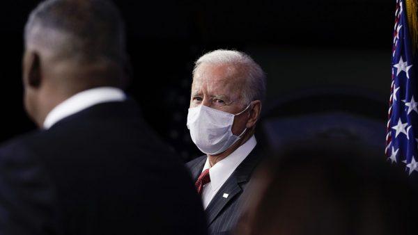 Le président américain lors d'une conférence de presse au Pentagone, le 10 février 2021. (Source : Axios)