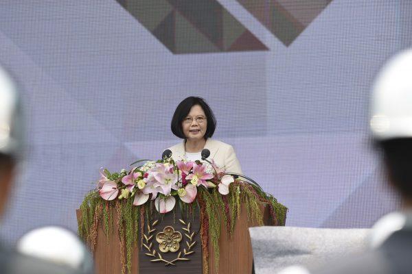 La présidente de la République de Chine, Tsai Ing-wen lors de sa cérémonie d'investiture le 20 mai 2016.